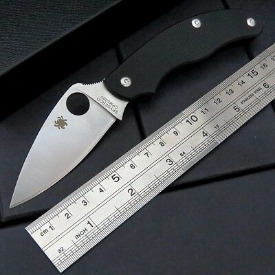 New Box C94 G10 Black Spyderco Pocket Knife Camping Folding Knife Self Defense A
