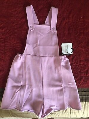 Victoria Beckham for Target Mauve Twill Scallop Romper, Girls' S, NWT