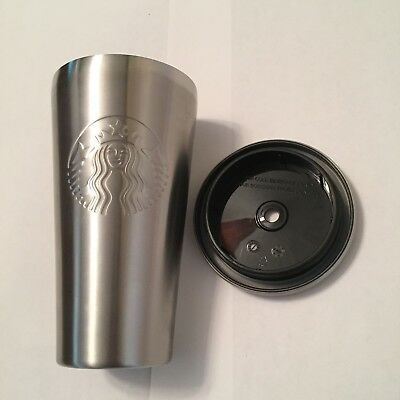 Starbucks Stainless Steel Cold Cup 16 Oz Tumbler 2014 (Straw Missing)