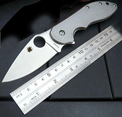 New C172 Silver Spyderco Pocket Knife Camping Folding Knife Self Defense $149