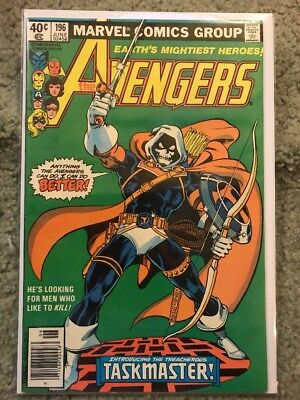 AVENGERS 196 1st Appearance Of The TASKMASTER! Marvel Comics 1980 FREE SHIPPING