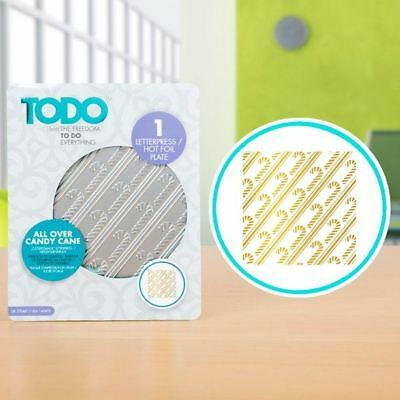 TODO Paper Card Craft Letterpress and Hot Foil Plate - All over Candy Cane