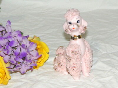 Vtg 50's Era Pink & Gold Highlight Regal Spaghetti Poodle Excellent Condition
