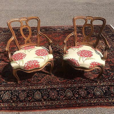 Pair of Bergere French Arm Chairs