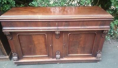 Antique Mahogany Victorian Chiffonier Dresser Sideboard Drawers Cabinet