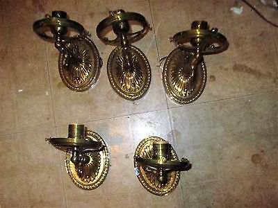 pair of  matching  GAS TYPE SCONCES BRASS vintage