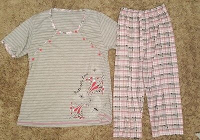 nursing / breast feeding pyjamas size L