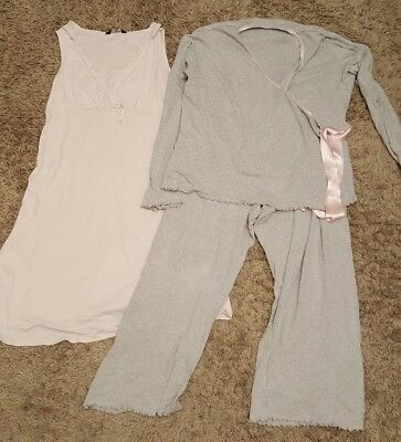 Mothercare nursing / breast feeding 3pc set / bundle pyjamas / nightdress