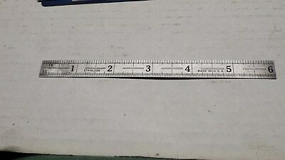 Stainless 6 inch Machinist's scale USA made
