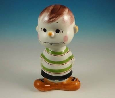 RARE Quadrifoglio Peanuts Schroeder Porcelain Bank Florence Italy Vintage 1968