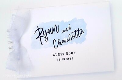 Personalised Wedding / Engagement Celebration Guest Book  -  Party Supplies