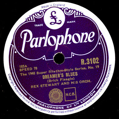 REX STEWART & HIS ORCH. Dreamer's Blues / Shady Side of the Street   78rpm X1875