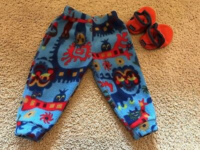 Patagonia Baby 12M Micro D Bottoms And 18M-3T Synchilla Booties