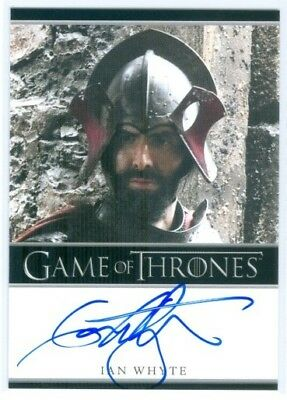 """Ian Whyte """"gregor Clegane Limited Autograph Card"""" Game Of Thrones Season 4"""