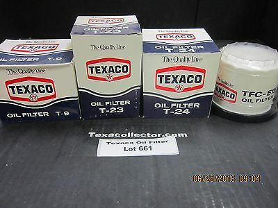 Four Texaco Quality Line Oil Filters Lot 661