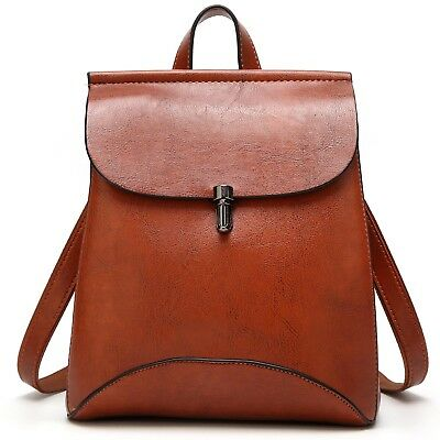 Women's Backpack Shoulder Purse Bag NEW Casual Design [Leather PU Brown] Travel