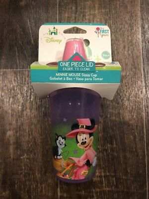 NIP Disney The First Years Minnie Mouse Sippy Cup 9 Oz BPA Free 9m+ Halloween
