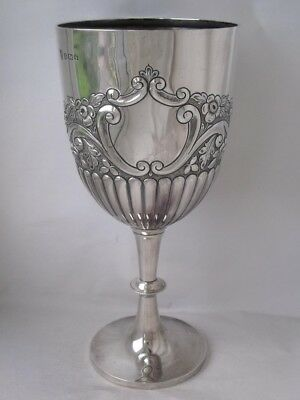 Giant Antique Solid Sterling Silver Goblet 1906/ H 29 cm/ 545 g
