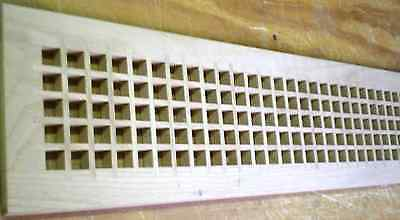 """Red Oak Wood Cold Air Return Register Vent Cover for a 6 """" W x 30"""" L Opening"""