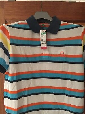 Benetton Boys Polo Shirt Age 13-14 Brand New