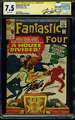Fantastic Four #34 CGC SS 7.5 OW 1/65 Special Stan Lee Signature Edition