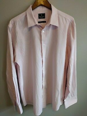 Marc Ecko New York Men's Long Sleeve Button Front Shirt Pink Embroidered Sz XL