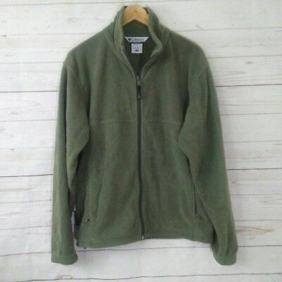 Columbia casual men Full zip up fleece jacket olive green Size  M