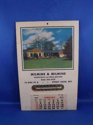 Milmine & Milmine Insurance Real Estate Calendar Thermometer Stoney Creek Ont