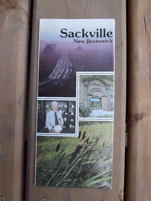 Sackville New Bunswick Map Points Of Interest Canada Tourist Travel