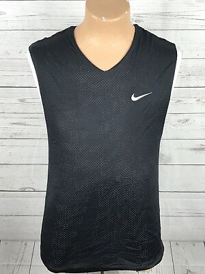 Nike Reversible Tank Men's Size Medium Workout Shirt black White  Sleeveless