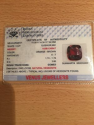 New Gomed Natural Hessonite 14.80 Carat