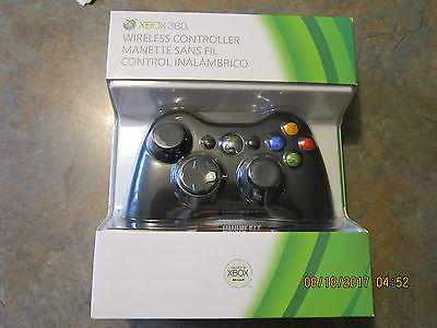 Genuine  Official Microsoft Xbox 360 Wireless Controller (BLACK) - NEW!