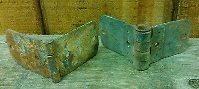 Original vintage antique primitive rusted barn/farm door hinges hardware rustic