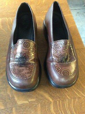 Dansko Women's Brown Leather Slip On Casual Loafer Shoes Size 41