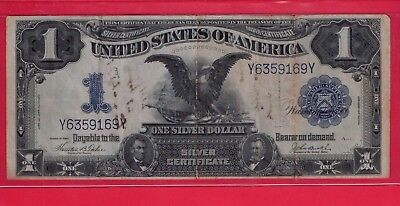 ***  1899  $1.00 Black Eagle Silver Cert  With A Notation    ****