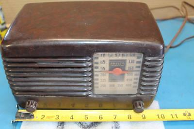 Vintage 1946 Philco Transitone Tube Radio Model 46-200 NEEDS CORD