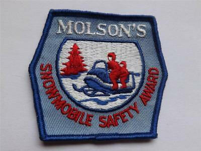 Molson Beer Canada Snowmobile Safety Award Vintage Patch Race Club Collector