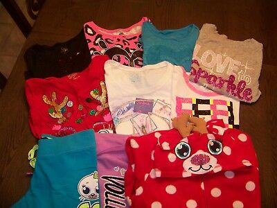 Girls Size 14 Fall/Winter Clothes Lot, Tops, Bottoms, PJ Holiday Justice Nice!