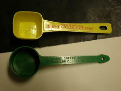 2 Vintage Coffee Scoops - National Coffee Association - Eight O Clock