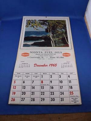 Nionta Fuel Oils Fort Erie Ontario 1965-1966 Advertising Calendar Recipes Hints