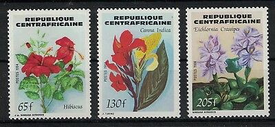 CENTRAL AFRICAN REPUBLIC:1984 SC#680-82(2) MNH - Flowers