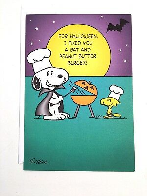 Hallmark Expressions Halloween Greeting Card Peanuts Snoopy WStk  659 E NEW COND