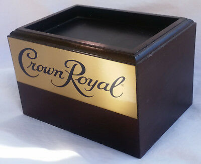 Crown Royal Wooden Wood Box Bottle Display