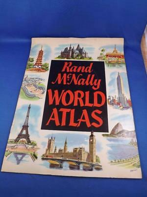 Rand Mcnally World Atlas 1961 Travel Polar Map Of World Key To Battles Of War