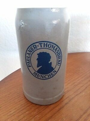 Paulaner Munchen Thomasbrau 1 L Stein  Heavy  Stoneware   from Germany