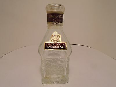 Japanese SUNTORY WHISKY EXCELLENCE 4 inch empty miniature bottle : JAPAN