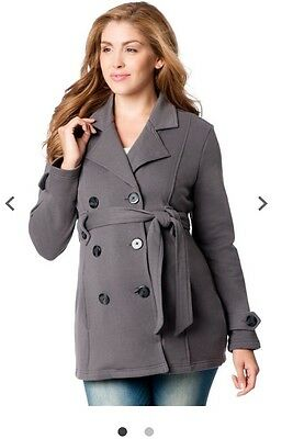 Motherhood Maternity Medium M Gray Winter Coat Jacket NEW NWT Sexy Warm