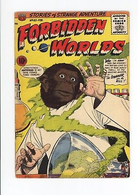 Forbidden Worlds #63 - Scarce Early Silver Age - 1958 - The Gorilla Face!