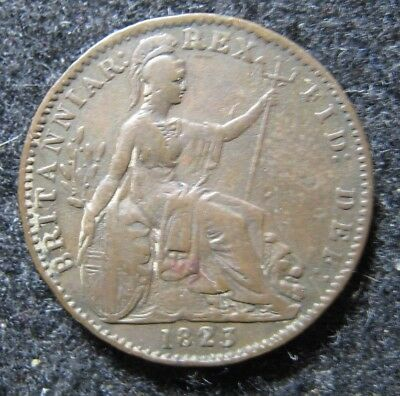 1823 Great Britain Farthing  Circulated KM 677