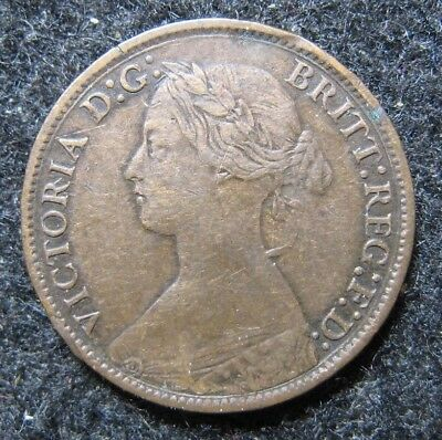 1865/2 Great Britain Farthing  Circulated Look !